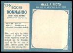 1961 Topps #156  Roger Donnahoo  Back Thumbnail