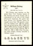 1961 Golden Press #27  Bill Dickey  Back Thumbnail