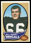 1970 Topps #168  Bill Bergey  Front Thumbnail
