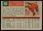 1959 Topps #169  Ted Abernathy  Back Thumbnail