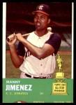 1963 Topps #195  Manny Jimenez  Front Thumbnail