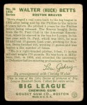 1934 Goudey #36  Walter Betts  Back Thumbnail