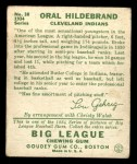 1934 Goudey #38  Orval Hildebrand  Back Thumbnail
