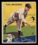1934 Goudey #44  Tommy Bridges  Front Thumbnail