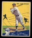 1934 Goudey #28  Ed Coleman  Front Thumbnail