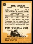 1967 Topps #79  Joe Auer  Back Thumbnail