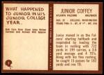 1967 Philadelphia #2  Junior Coffey   Back Thumbnail