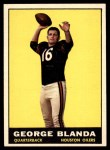 1961 Topps #145  George Blanda  Front Thumbnail