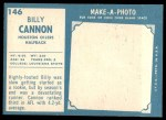 1961 Topps #146  Billy Cannon  Back Thumbnail