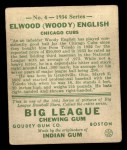 1934 Goudey #4  Elwood English  Back Thumbnail
