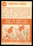 1963 Topps #109   Vikings Team Back Thumbnail