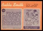 1970 Topps #114  Bubba Smith  Back Thumbnail
