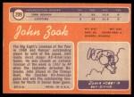 1970 Topps #209  John Zook  Back Thumbnail