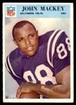 1966 Philadelphia #18  John Mackey  Front Thumbnail