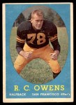 1958 Topps #64  R.C. Owens  Front Thumbnail