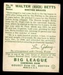 1934 Goudey #36  Walter Betts  Back Thumbnail