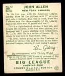 1934 Goudey #42  Johnny Allen  Back Thumbnail