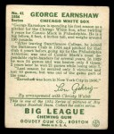 1934 Goudey #41  George Earnshaw  Back Thumbnail