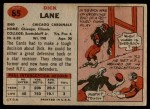 1957 Topps #85  Richard Lane  Back Thumbnail