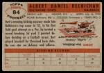 1956 Topps #84  Bert Rechichar  Back Thumbnail