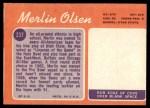 1970 Topps #237  Merlin Olsen  Back Thumbnail