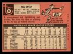 1969 Topps #81  Mel Queen  Back Thumbnail