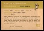 1961 Fleer #152  Goose Gonsoulin  Back Thumbnail