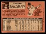 1969 Topps #209  Larry Haney  Back Thumbnail
