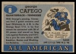 1955 Topps #8  George Cafego  Back Thumbnail