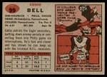 1957 Topps #99  Eddie Bell  Back Thumbnail