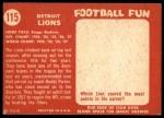 1958 Topps #115   Lions Team Back Thumbnail