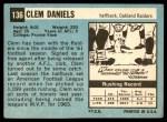 1964 Topps #136  Clem Daniels  Back Thumbnail