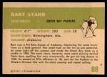 1961 Fleer #88  Bart Starr  Back Thumbnail