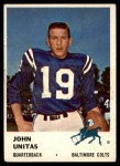 1961 Fleer #30  Johnny Unitas  Front Thumbnail