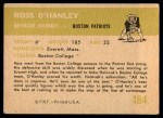 1961 Fleer #184  Ross OHanley  Back Thumbnail