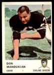 1961 Fleer #196  Don Manoukian  Front Thumbnail