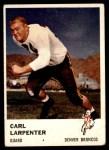 1961 Fleer #150  Carl Larpenter  Front Thumbnail