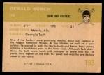 1961 Fleer #193  Gerald Burch  Back Thumbnail
