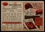 1957 Topps #103  Jim Mutscheller  Back Thumbnail
