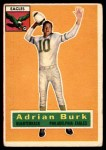 1956 Topps #52  Adrian Burk  Front Thumbnail