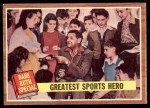1962 Topps #143 NRM  -  Babe Ruth Greatest Sports Hero Front Thumbnail