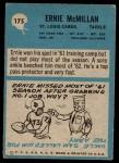 1964 Philadelphia #175  Ernie McMillan  Back Thumbnail