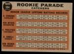 1962 Topps #594   -  Bob Uecker / Doc Edwards / Ken Retzer / Don Pavletich / Doug Camilli Rookie Parade - Catchers Back Thumbnail