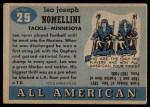 1955 Topps #29  Leo Nomellini  Back Thumbnail