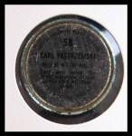 1971 Topps Coins #58  Carl Yastrzemski  Back Thumbnail