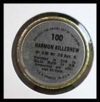 1971 Topps Coins #100  Harmon Killebrew  Back Thumbnail