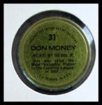 1971 Topps Coins #31  Don Money  Back Thumbnail