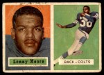 1957 Topps #128  Lenny Moore  Front Thumbnail