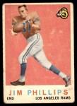 1959 Topps #142  Jim Phillips  Front Thumbnail