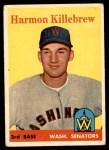 1958 Topps #288  Harmon Killebrew  Front Thumbnail